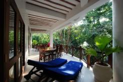 Balcony amongst lush gardens