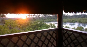 Sunset over Shimba Hills