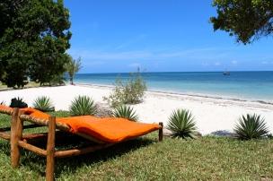 beach cove from garden