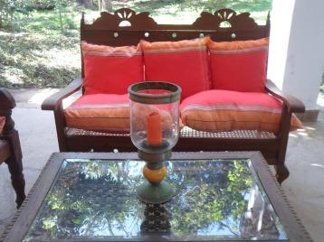 verandah and table