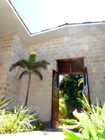 front door and skylight