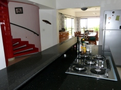 kitchen stairs dining