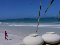 pots and beach