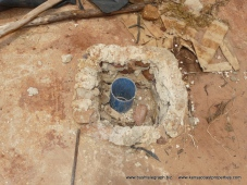 borehole with 6 inch pipe