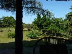 verandah to garden
