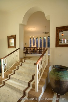 stairs to dining