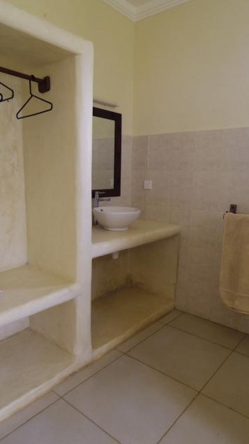 A bedroom back bathroom