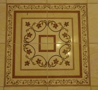 floor tile deco at entrance