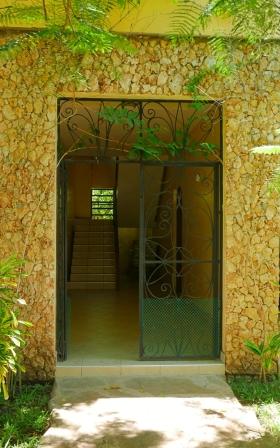 entrance to apts