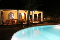 pool to house night