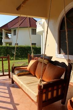 seat on verandah