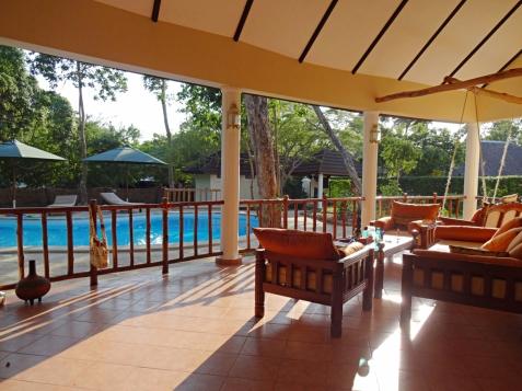 verandah to pool sunrise