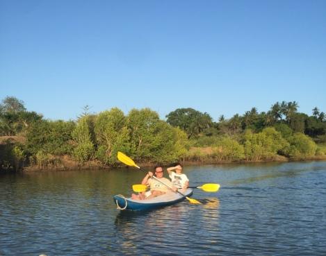 kayaking in creek