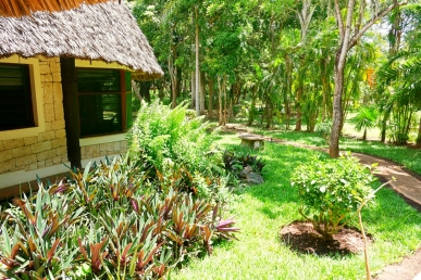 verandah to bedroom and garden