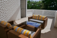 terrace seating to back