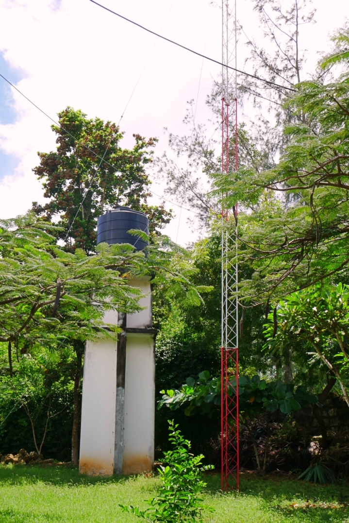 water tank and mast